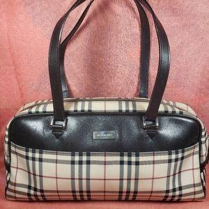 Authentic Burberry Nova Check Satchel Bag